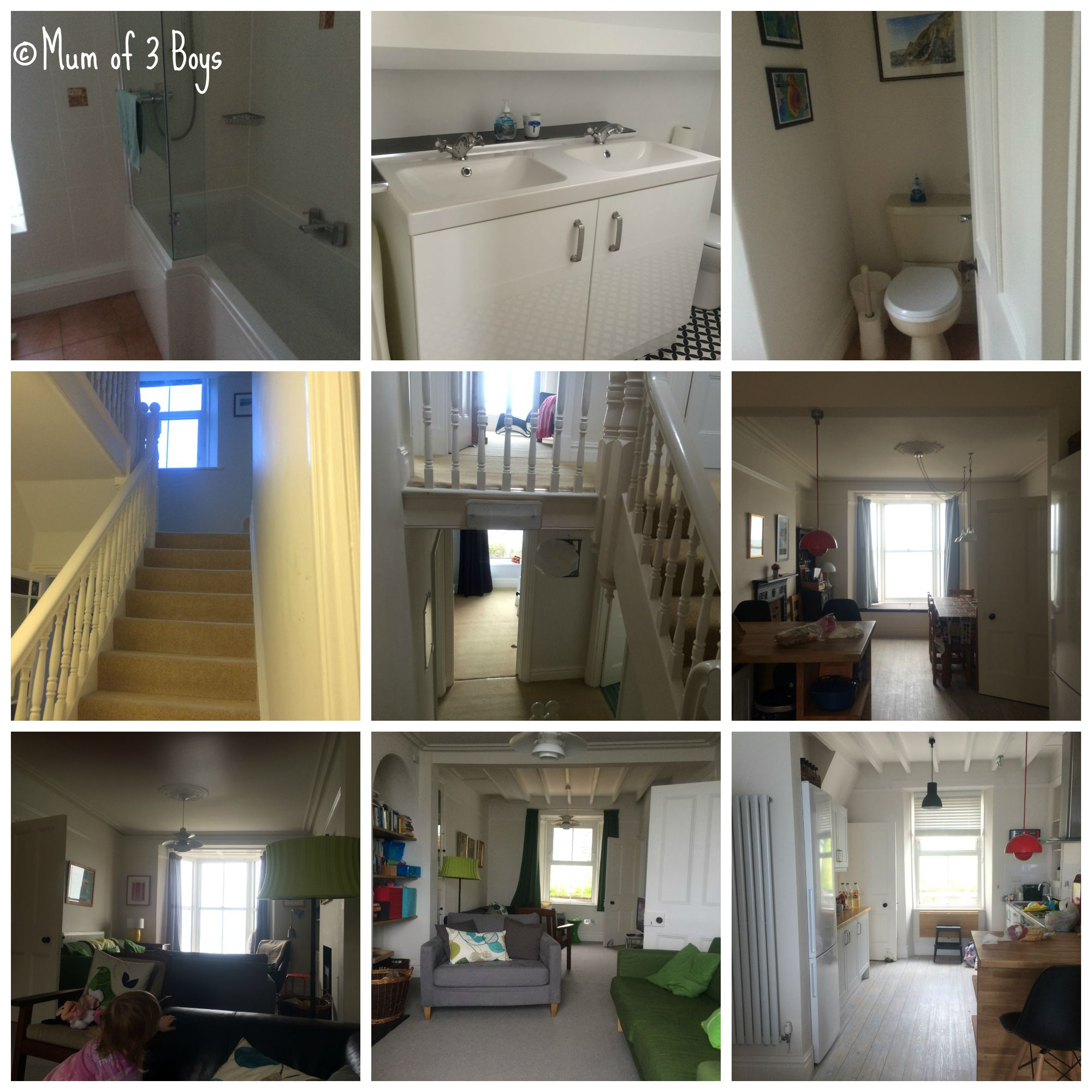Bathrooms and downstairs rooms