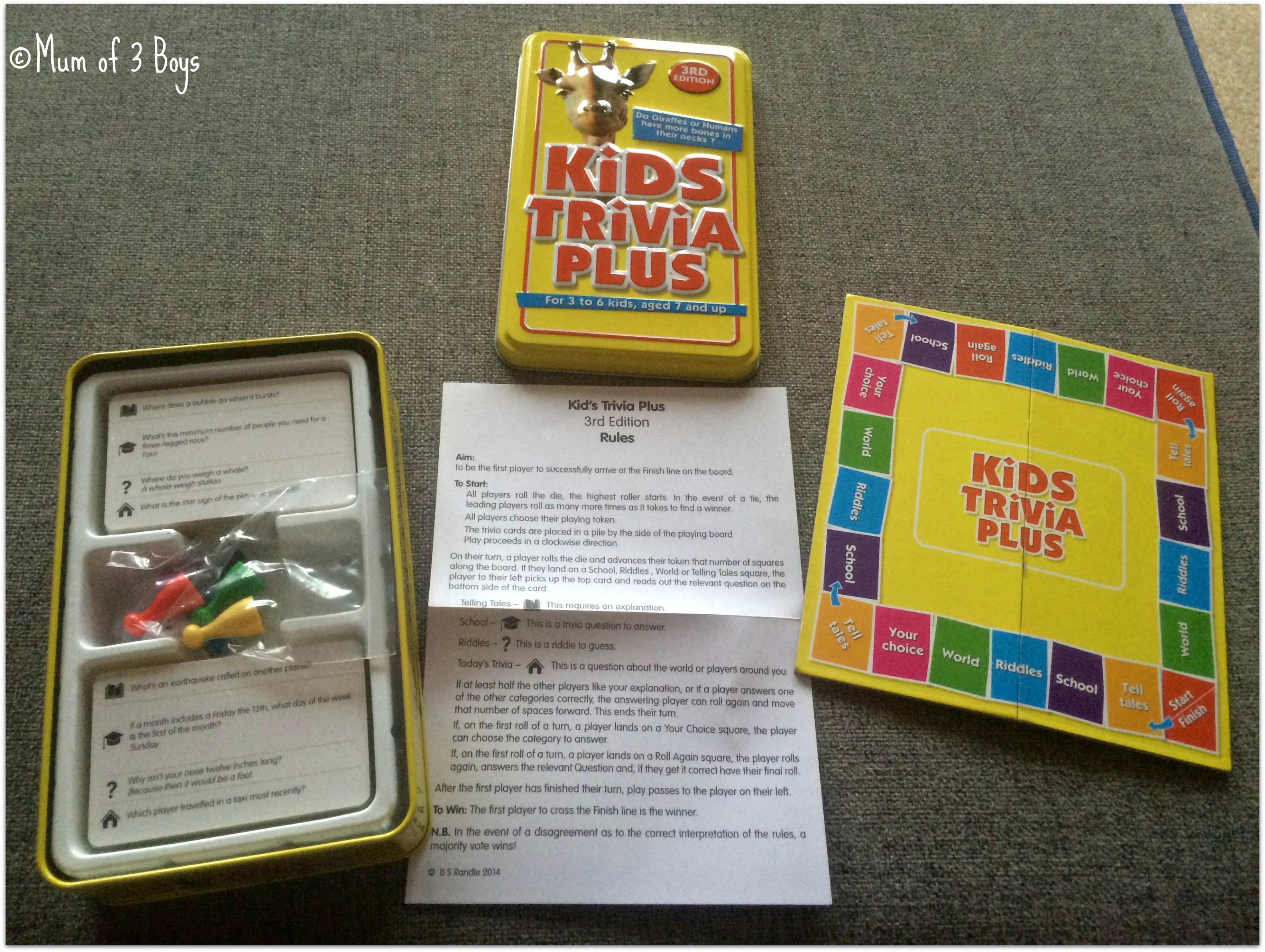 kids trivia plus box